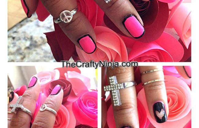 outline border nails