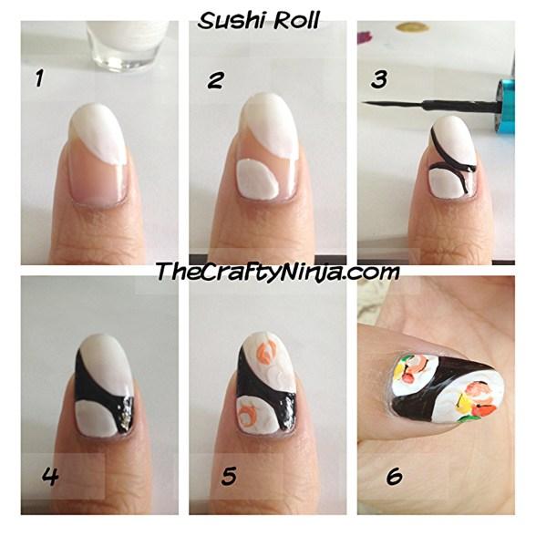 diy sushi roll nails