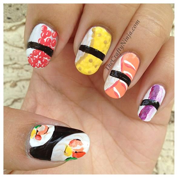 sushi nails tutorial
