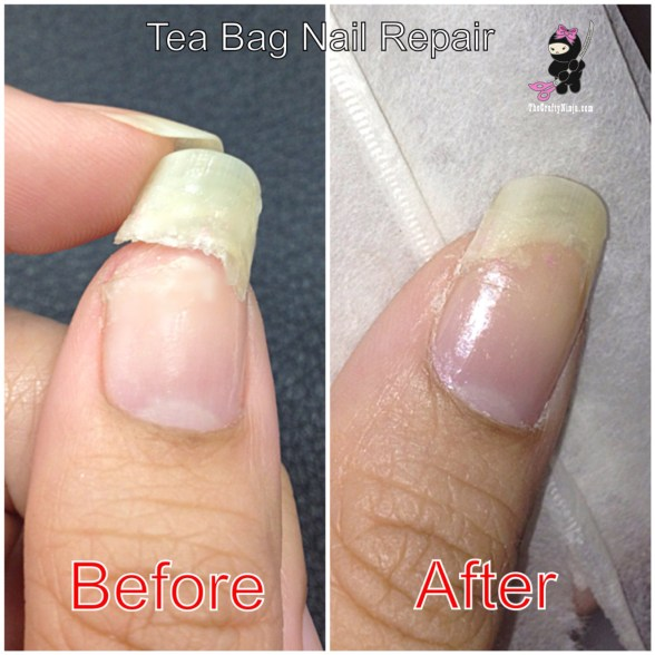 tea bag nail repair