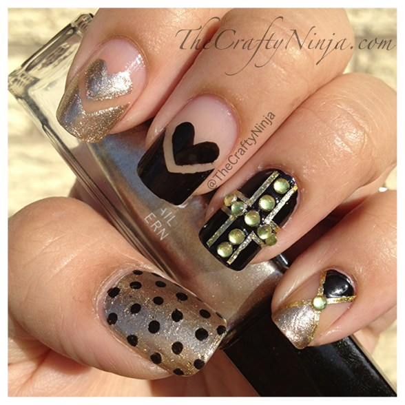 cross heart nails