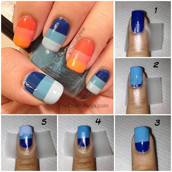 diy nail tape gradient