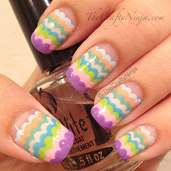 scallop pastel nails
