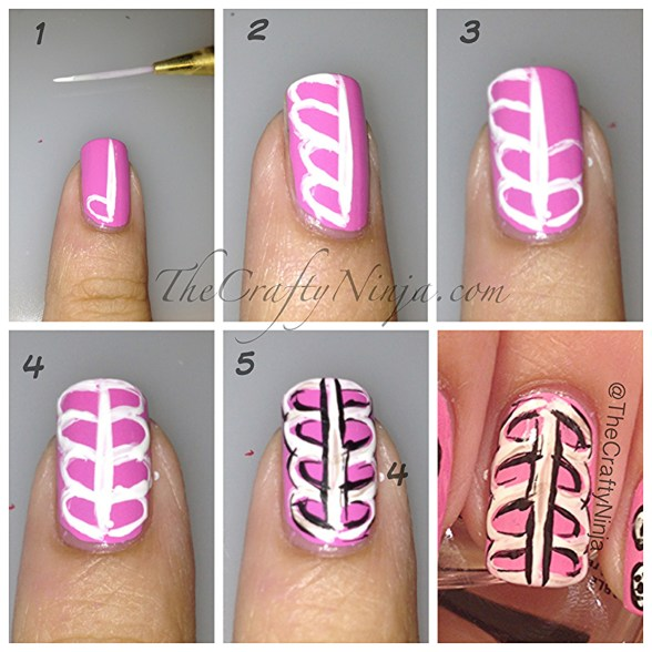skeleton nail diy