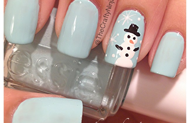 snow man nails