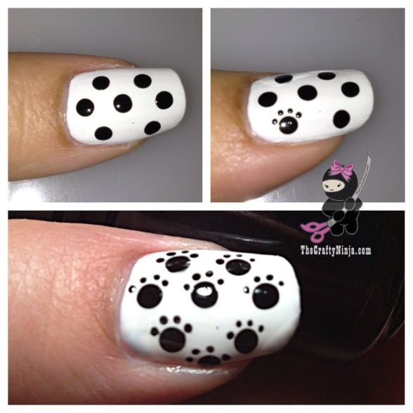 diy paws nail art