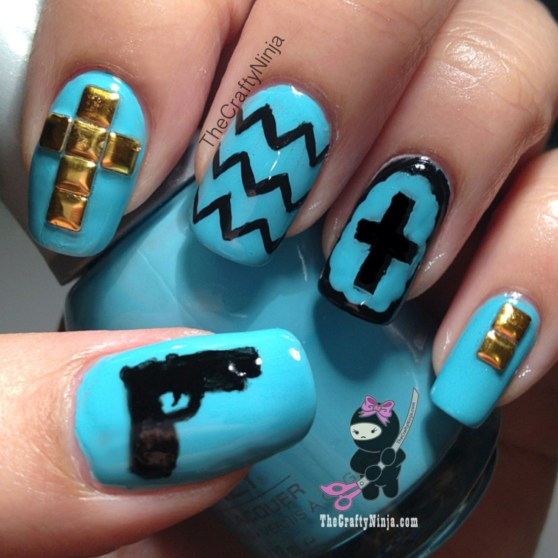 gun chevron nails