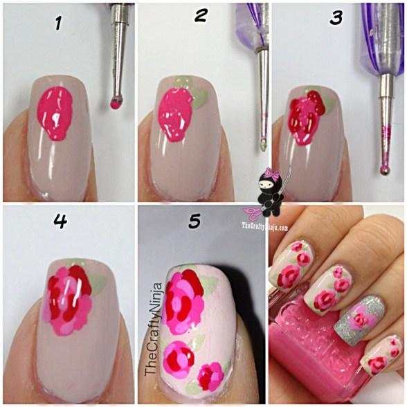 diy rose nail