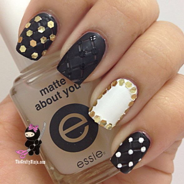 quilted nail art
