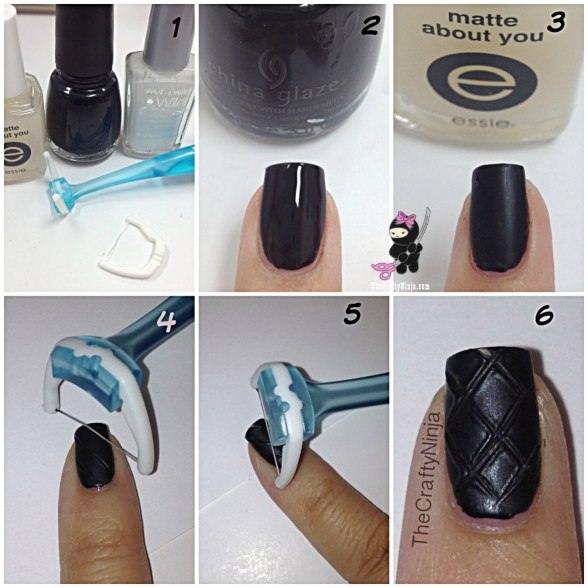 quilted nails tutorial