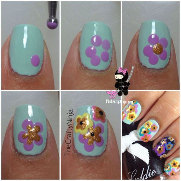 DIY Flower Nails
