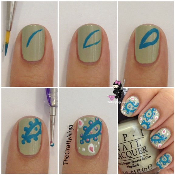 paisley nail tutorial