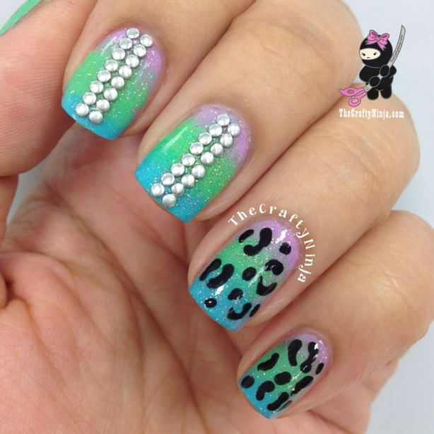 Cheetah Gradient Nails