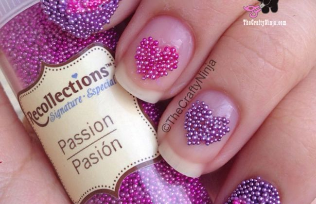 Caviar Heart Nails