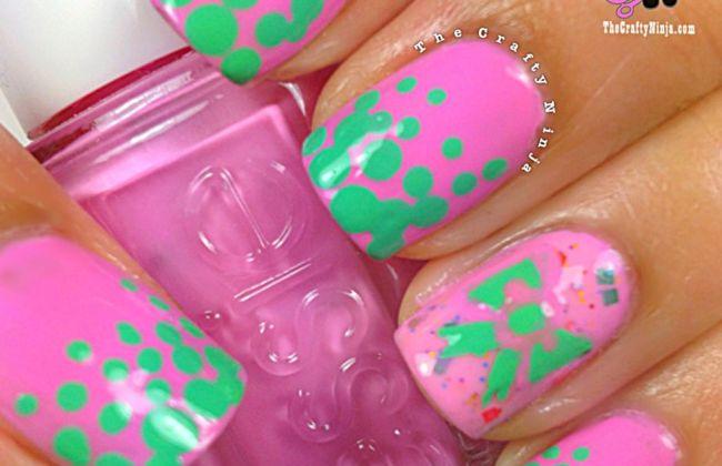 gradient dot nail