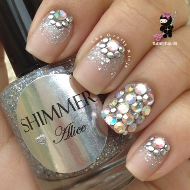 swarovski stud nails