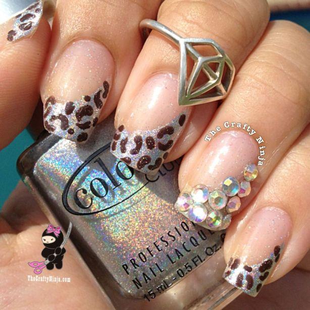 Holo Leopard Nails