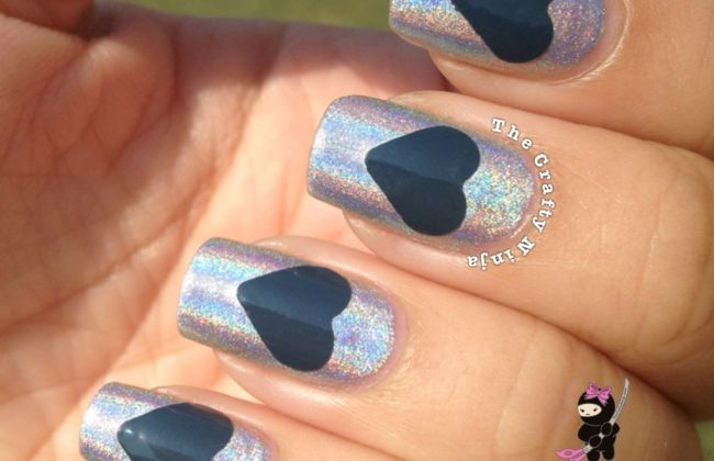 Craft Punch Heart Nails