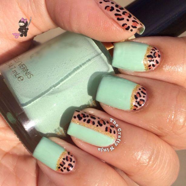 Half Leopard Nails