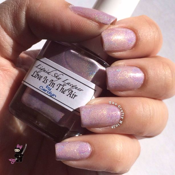 Pink Holographic Polish
