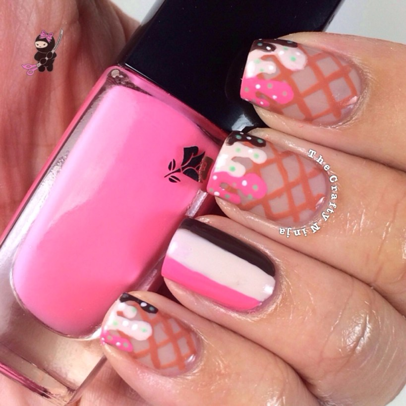 Ice Cream Neapolitan Nails