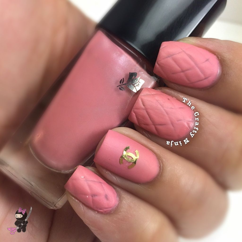 pink chanel inspired nails