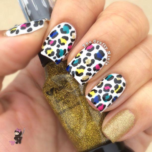 Cheetah Print Nail