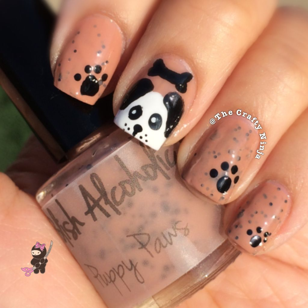 Puppy Paws Nail Art The Crafty Ninja