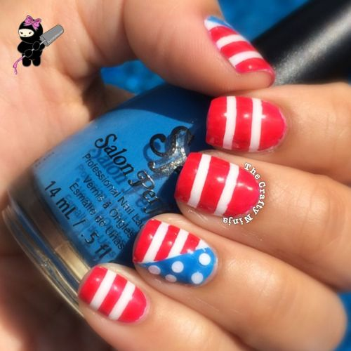 Fourth Flag Nails