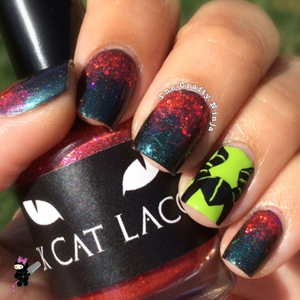 Disney Maleficent Nail Tutorial | The Crafty Ninja