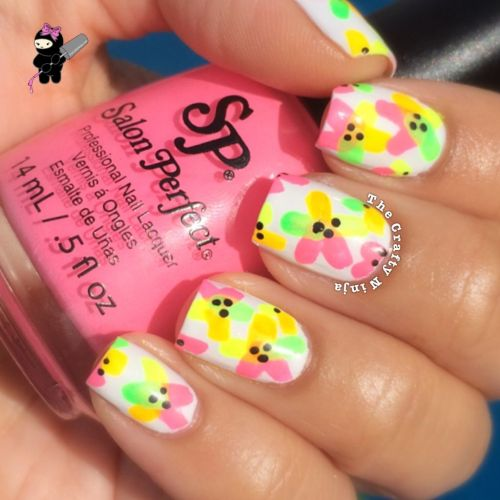 Summer Flower Nails