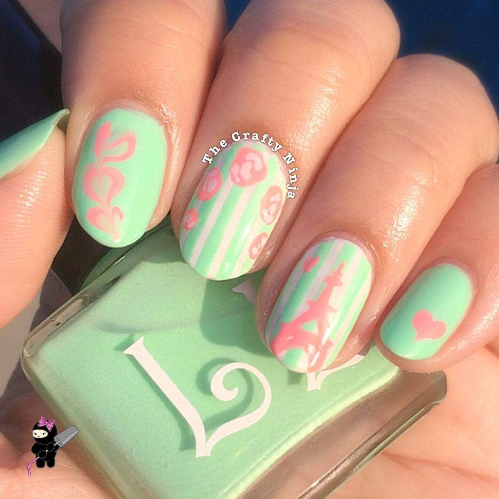 paris love nails crafty ninja