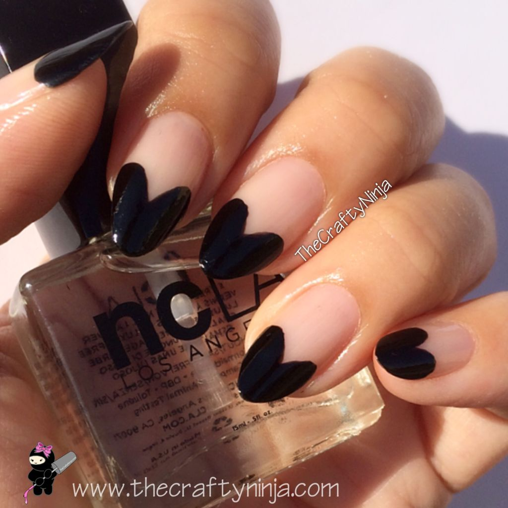 Heart French Tip Nails | The Crafty Ninja