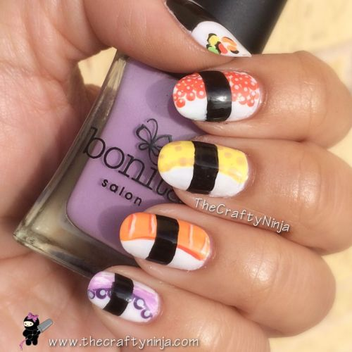Sushi Nail Design