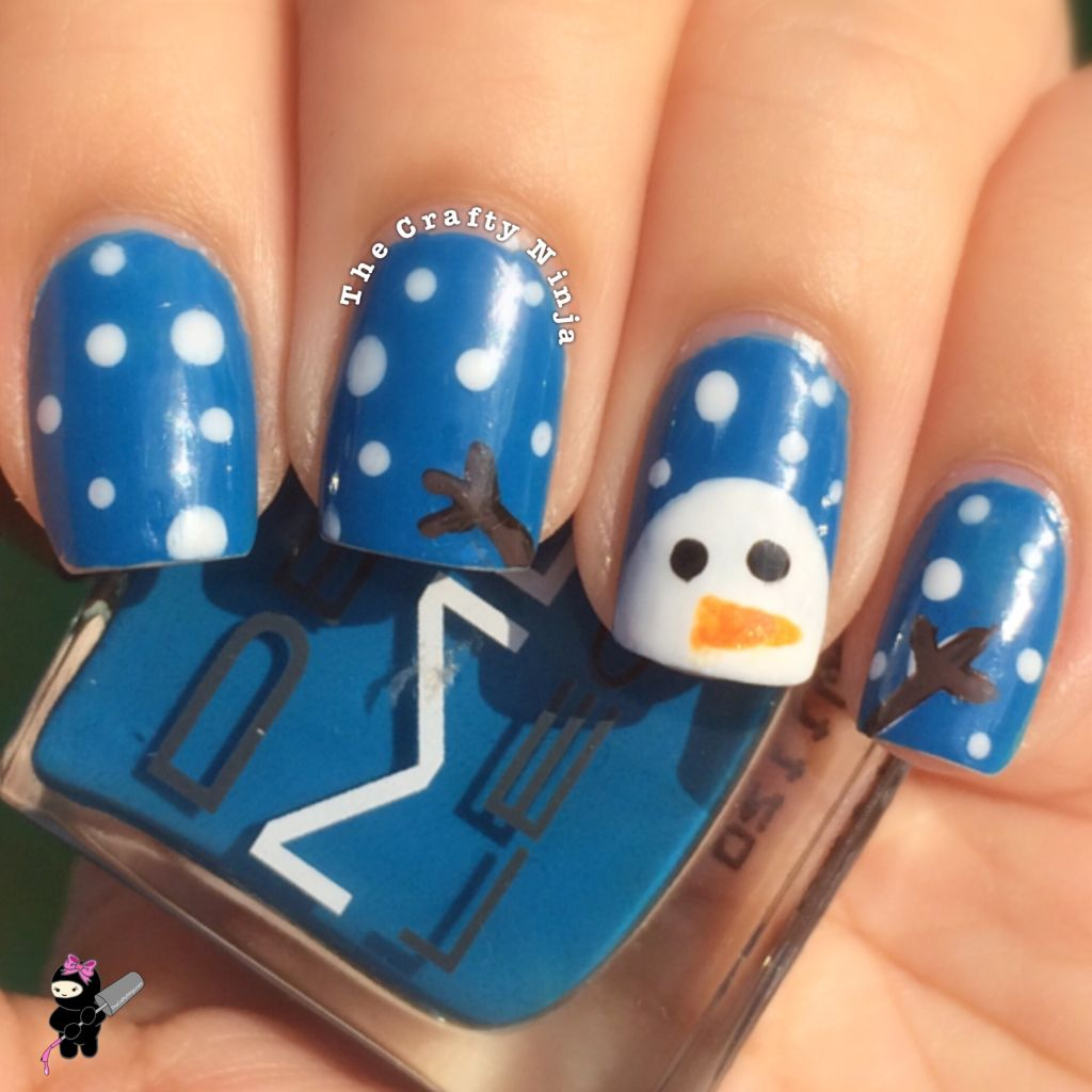 Snowman Nail Art Tutorial: Three Designs: Christmas Nails