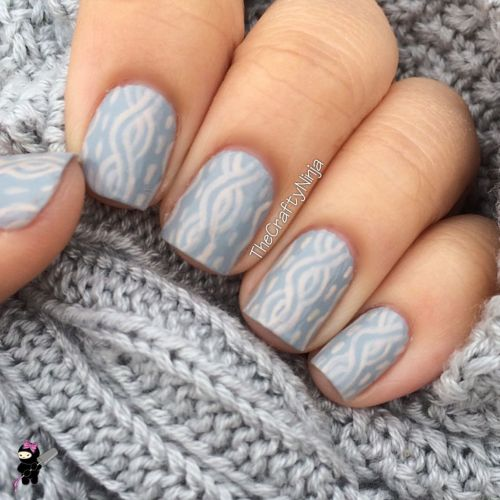 Sweater Knit Nail Art
