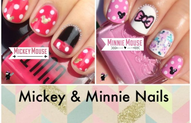 Mickey and minnie nail tutorials the crafty ninja mickey and minnie nail tutorials prinsesfo Image collections