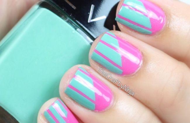 Diagonal Nail Art