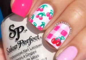 Picnic Cherry Nails