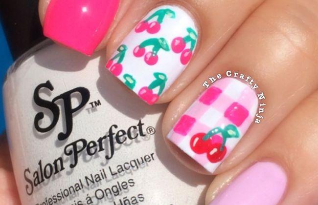 Picnic Cherry Nails