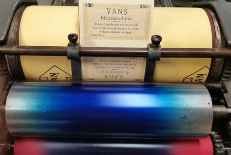 Vans certificates, printed in pairs