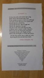 Broadside of the sonnet