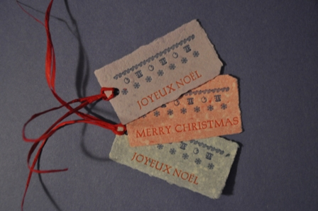 Christmas tags by Grant Wilkins