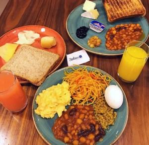 Breakfast at Assymetri, Radisson Blu Yas Island, Abu Dhabi.
