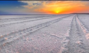 Sunset at the Great White Rann of Kutch.