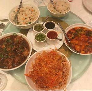 A meal at China Garden, Kemp Corner and Khar.