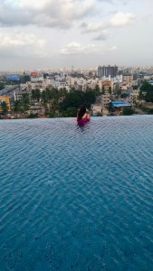 Infinity Pool at Courtyard by Marriott, Hebbal, Bengaluru.