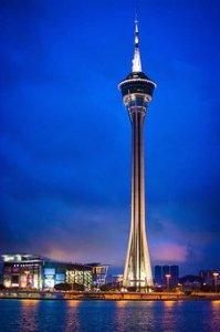 Macao 360* revolving restaurant on top of the sky high Macau tower.