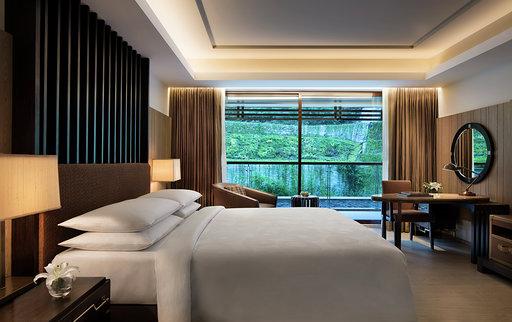 Deluxe Room at JW Marriott Mussoorie Walnut Grove Resort and Spa.
