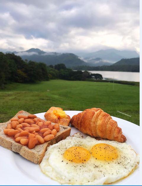 Breakfast with a view at Victoria Golf Resort, Kandy, Sri Lanka.